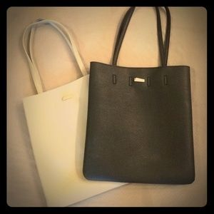 Accessories - Black or Gray faux leather tote bag
